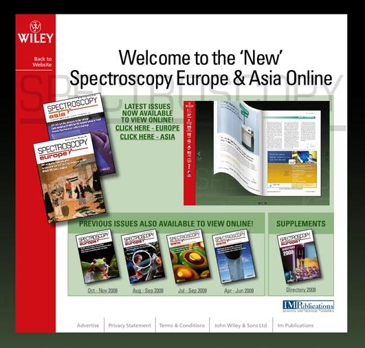 Capture d'écran de l'application Spectroscopy de l'éditeur