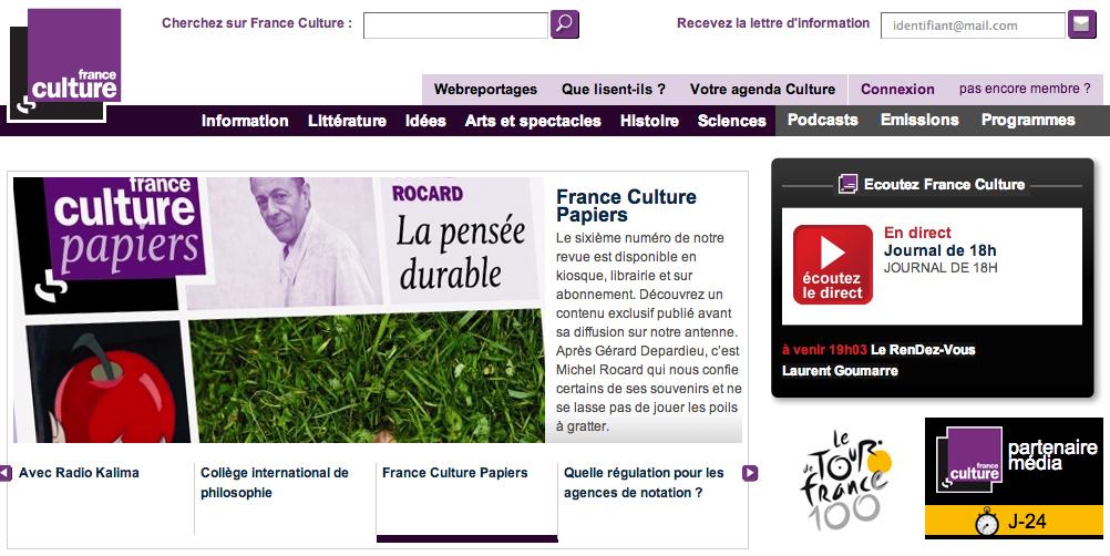 Site de France Culture