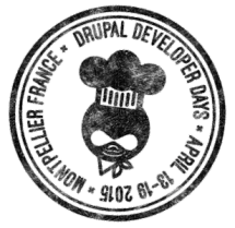 Logo DrupalDevDays Montpellier inversé pour fond blanc