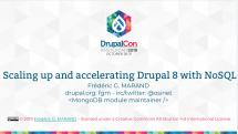 Première diapo performance et scalabilité Drupal 8 avec NoSQL